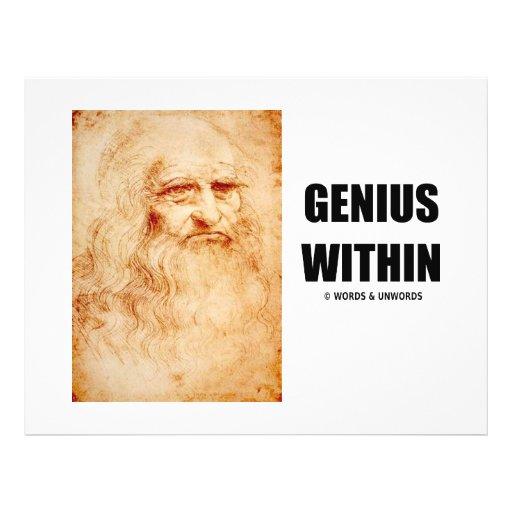 Genius Within (Leonardo da Vinci Self-Portrait) 21.5 Cm X 28 Cm Flyer