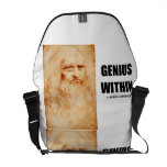 Genius Within Leonardo da Vinci Self-Portrait Courier Bag