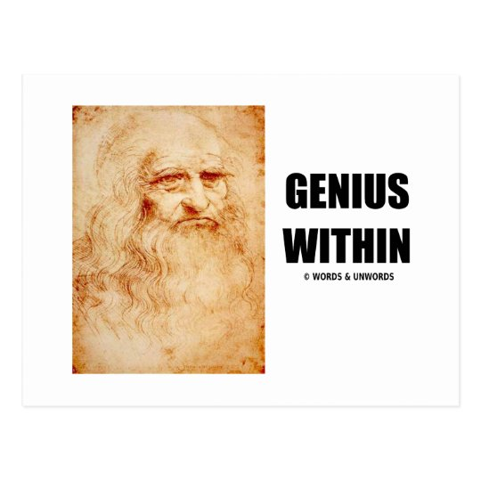 Genius Within (Leonardo da Vinci Self-Portrait) Postcard