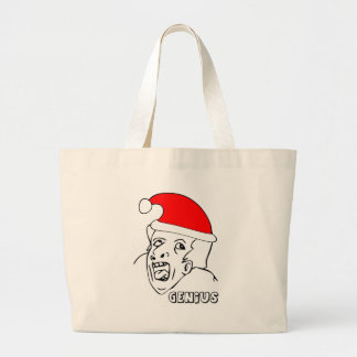 genius xmas meme bag