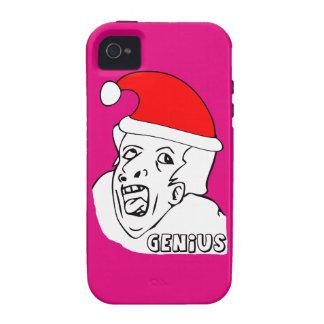 genius xmas meme vibe iPhone 4 case