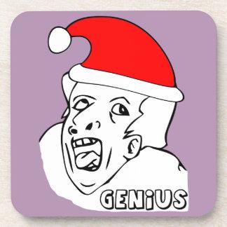 genius xmas meme coaster