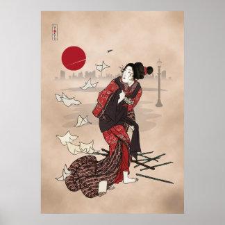 Genji kumo ukiyoye awase posters