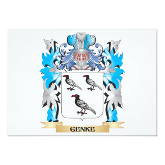 Genke Coat of Arms - Family Crest 13 Cm X 18 Cm Invitation Card