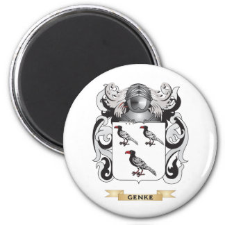 Genke Coat of Arms (Family Crest) 6 Cm Round Magnet