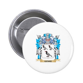 Genke Coat of Arms - Family Crest Pinback Buttons