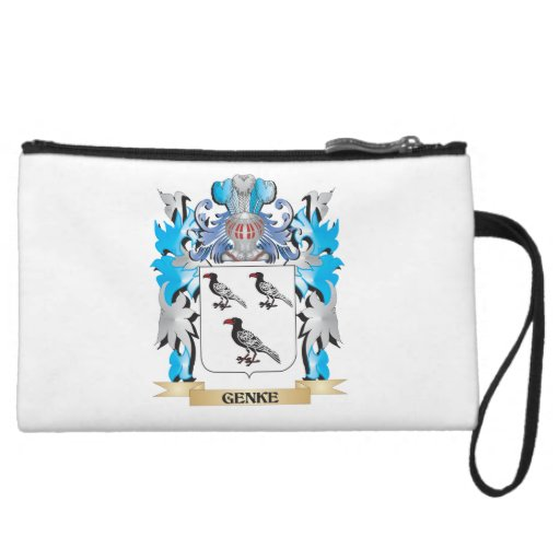 Genke Coat of Arms - Family Crest Wristlet Purse