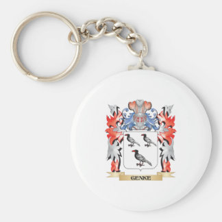 Genke Coat of Arms - Family Crest Basic Round Button Key Ring