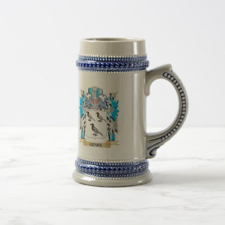 Genke Coat of Arms - Family Crest Beer Steins