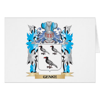 Genke Coat of Arms - Family Crest Note Card