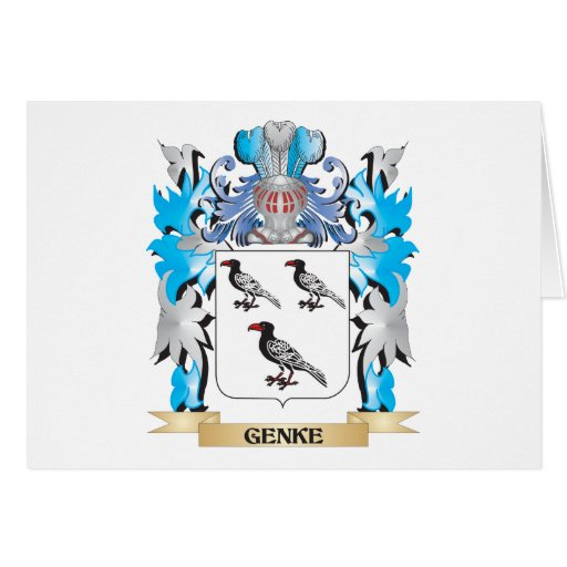 Genke Coat of Arms - Family Crest Card