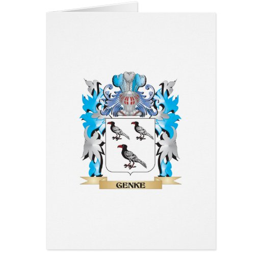 Genke Coat of Arms - Family Crest Greeting Cards