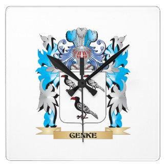 Genke Coat of Arms - Family Crest Wallclock