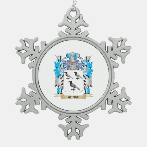 Genke Coat of Arms - Family Crest Ornament
