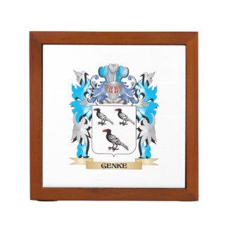 Genke Coat of Arms - Family Crest Desk Organizers