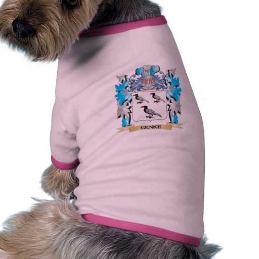 Genke Coat of Arms - Family Crest Pet Tshirt