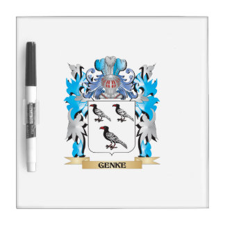 Genke Coat of Arms - Family Crest Dry Erase Whiteboards