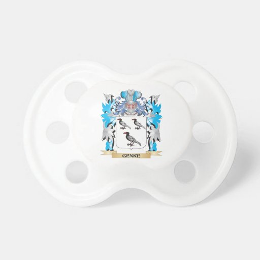 Genke Coat of Arms - Family Crest Pacifier