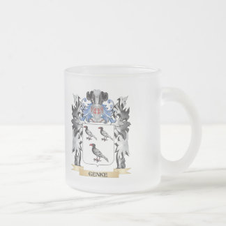 Genke Coat of Arms - Family Crest Frosted Glass Mug