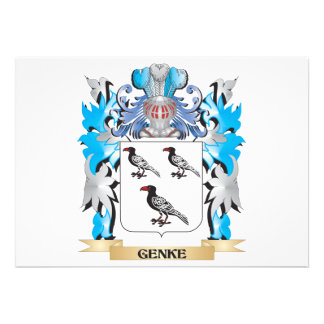 Genke Coat of Arms - Family Crest Personalized Announcements