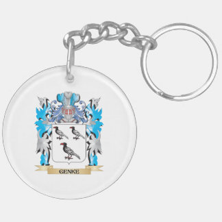 Genke Coat of Arms - Family Crest Double-Sided Round Acrylic Key Ring