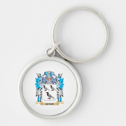 Genke Coat of Arms - Family Crest Keychain