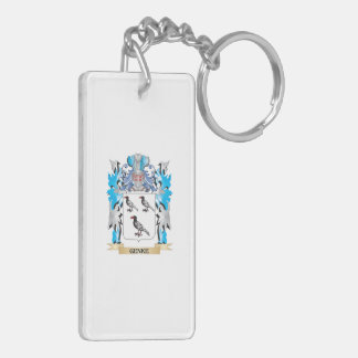 Genke Coat of Arms - Family Crest Double-Sided Rectangular Acrylic Key Ring