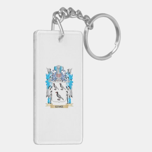 Genke Coat of Arms - Family Crest Rectangular Acrylic Keychain