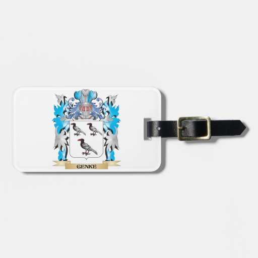 Genke Coat of Arms - Family Crest Luggage Tag