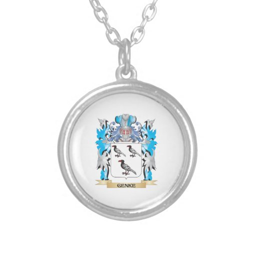 Genke Coat of Arms - Family Crest Personalized Necklace