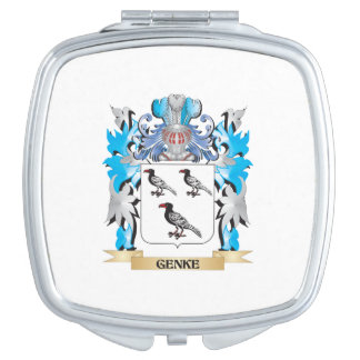 Genke Coat of Arms - Family Crest Vanity Mirror