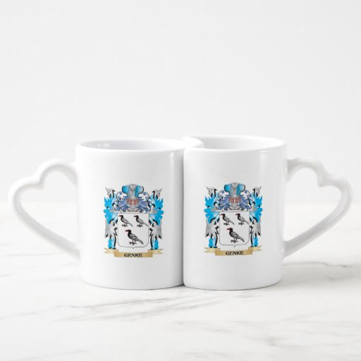 Genke Coat of Arms - Family Crest Couple Mugs