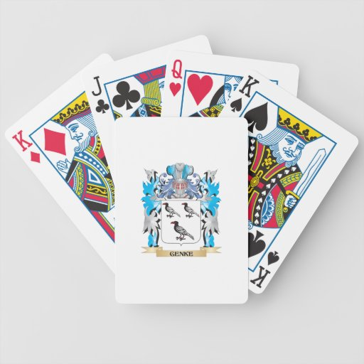 Genke Coat of Arms - Family Crest Bicycle Card Deck