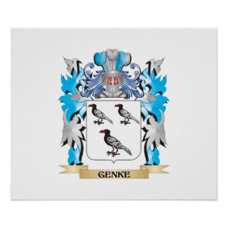 Genke Coat of Arms - Family Crest Posters