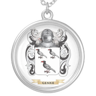 Genke Coat of Arms (Family Crest) Round Pendant Necklace