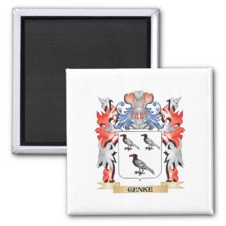 Genke Coat of Arms - Family Crest Square Magnet