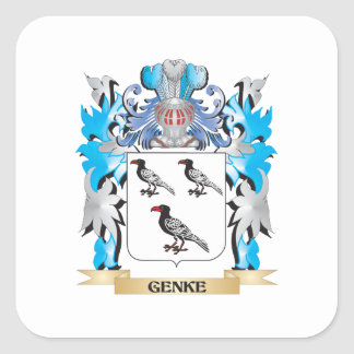 Genke Coat of Arms - Family Crest Square Sticker