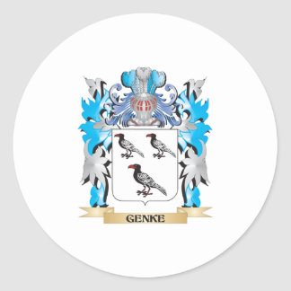 Genke Coat of Arms - Family Crest Round Sticker