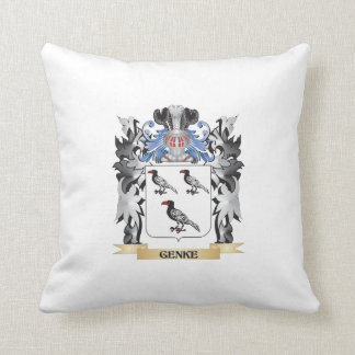 Genke Coat of Arms - Family Crest Throw Cushions