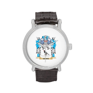 Genke Coat of Arms - Family Crest Wrist Watches