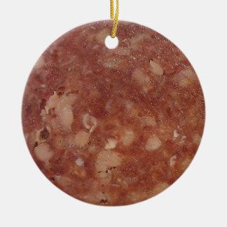 Genoa Salami Texture Christmas Ornament