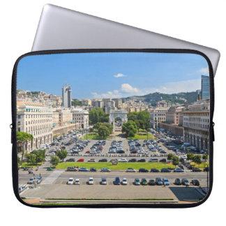 Genova - Piazza della Vittoria Laptop Sleeves