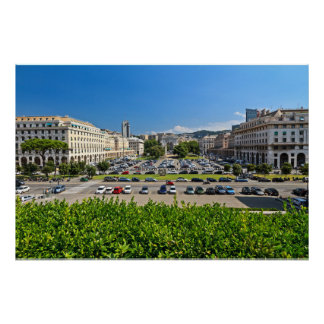 Genova - Piazza Della Vittoria Print