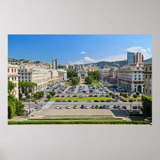 Genova - Piazza della Vittoria Posters