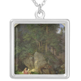 Genoveva in the Wood Clearing, 1839-41 Silver Plated Necklace