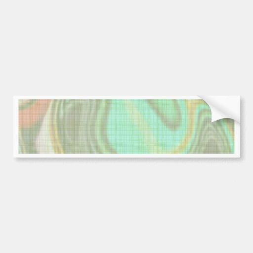 gentle abstract bumper sticker