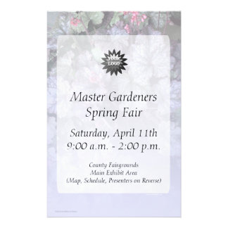 Gentle Blue Gray Leaves Flyer to Customize
