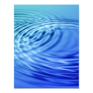 Gentle blue water ripples 11 cm x 14 cm invitation card