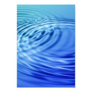 Gentle blue water ripples 9 cm x 13 cm invitation card