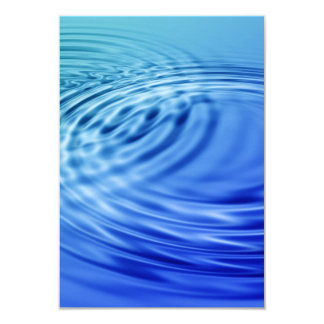 Gentle blue water ripples 3.5x5 paper invitation card